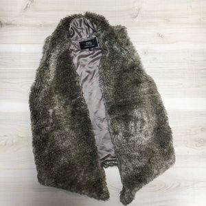 Tart Collections brown faux fur vest